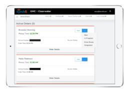 Web Dashboard - Active Orders